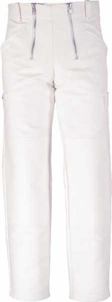 JOB-Zunfthose aus Doppel-Pilot weiß mit Kniepolstertaschen