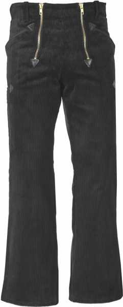 Kinder JOB-Zunfthose aus Trenkercord schwarz mit Schlag