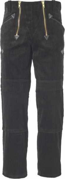 JOB-Zunfthose aus Trenkercord schwarz mit Kniepolstertaschen